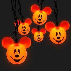 Amazon.com - Disney Parks Mickey Mouse Orange Halloween Set of 10 Pumpkin Lights String -