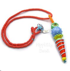 Watcher Series Colorful Lampwork Necklace by hippkittybeads