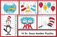 Dr. Seuss activities: FREE Dr. Seuss-themed puzzles. :-)