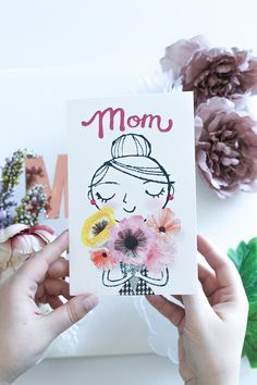 DIY Mother's Day Floral Scrapbook with American Greetings on Artluxe Designs. Fun Crafts To Do, Easy Diy Crafts, Mothers Day Cartoon, American Greetings, Mother's Day Diy, Christmas Gift Guide, Mothers Day Crafts, Homemade Crafts, Cool Diy Projects