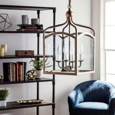 Ashley Bronze 4-light Foyer Hanging Lantern - Free Shipping Today - Overstock.com - 14974443 - Mobile