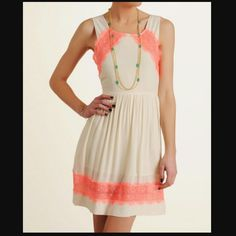Selling this New Free People Georgia Lace Dress. Lace is neon in my Poshmark closet! My username is: qualitydesign. #shopmycloset #poshmark #fashion #shopping #style #forsale #Free People #Dresses & Skirts