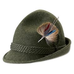 Just found this Wool Bavarian Tyrol Hat - Bavarian Hat -- Orvis on Orvis.com! I think it would be perfect for my husband ( Swiss-Norwegian ancestry )
