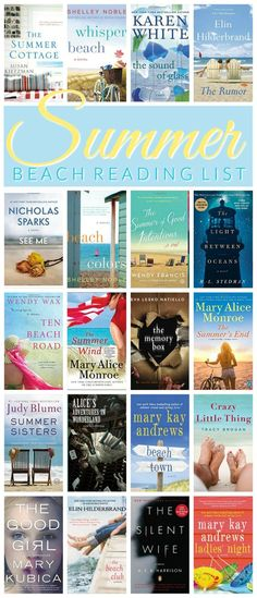 Summer Beach Read List - the best books to read this summer. Summer book list - perfect for a beach vacation!