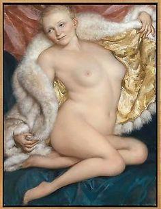 "John Currin (b. Boulder, Colorado, USA 1962) ""The Old Fur,"" 2010. oil on canvas 50x38"