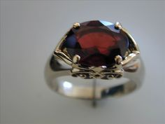 Garnet and Gold Ring/