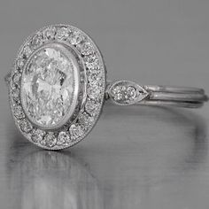 Art Deco Oval Diamond Engagement Ring OH MY! I have loved fay Cullen rings for m… - Art Deco Engagement Ring Deco Engagement Ring, Antique Engagement Rings, Diamond Engagement Rings, Wedding Rings Vintage, Vintage Rings, Wedding Jewelry, Vintage Art, Vintage Style, Vintage Black