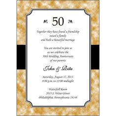 50 wedding anniversary invitations Check more image at http://bybrilliant.com/2190/50-wedding-anniversary-invitations