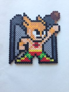 Perler beads #JLA #HawkMan by Amy