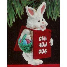 Billboard Bunny Hallmark Keepsake Christmas Ornament 1990 MIB    Available for sale via the pin's link.