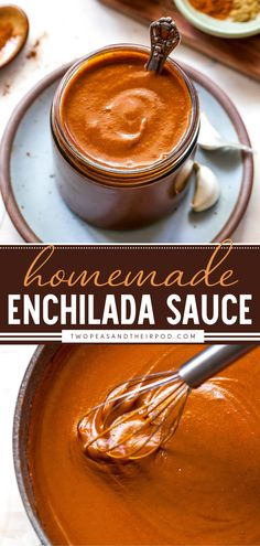 Homemade Enchilada Sauce is incredibly easy to make! You will never buy store-bought enchilada sauce again! This Cinco de Mayo appetizer for a crowd is ready in just 30 minutes. Pin this easy appetizer recipe for dinner!