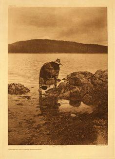Tsukwani (aka Francine Hunt) at Blunden Harbour, British Columbia - Nakoaktok Kwakiutl – 1914
