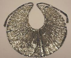 Amazing Silver Deco Necklace collar, circa 1925-1939, MOMA