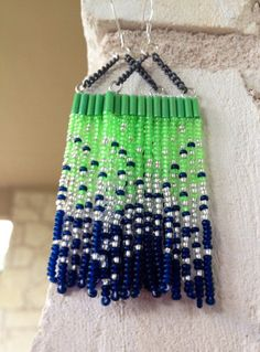 Native American SEATTLE SEAHAWKS Inspired Beaded by