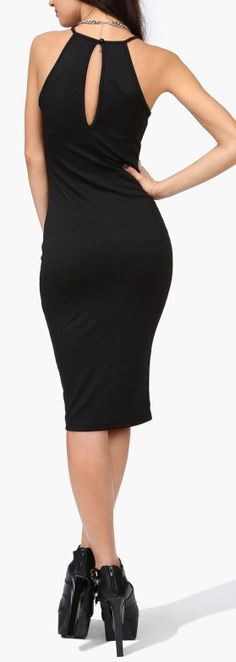 Bodycon Midi Dress ♥ I would buy this and it would look good on me...Except I have no money smh