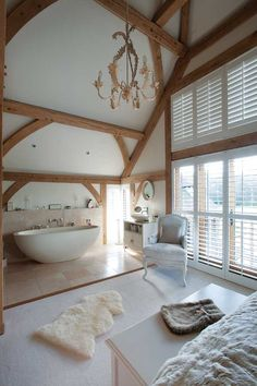 I love the idea of having my roll top bath within my large (dream) bedroom...