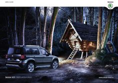 Skoda Yeti: Once upon a ride, 2 Print Advertising, Creative Advertising, Advertising Campaign, Ride 2, Life Is An Adventure, Vintage Ads, Techno, House Styles, Vehicles
