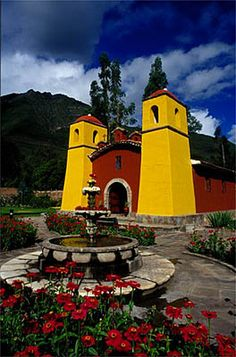 Yucay Church, Sacred Valley, Peru.  Go to www.YourTravelVideos.com or just click on photo for home videos and much more on sites like this.