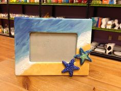 Beach Picture Frame with Starfish add-ons