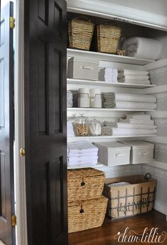 Next on the never ending list...Our Linen Closet Makeover by Dear Lillie