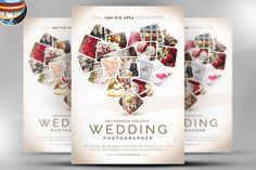 Wedding Photographer Flyer Template by FlyerHeroes on Creative Market