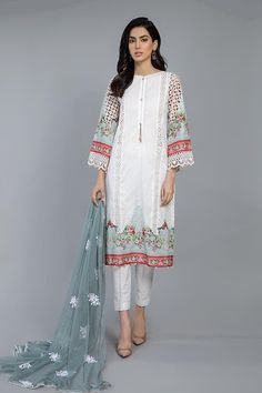 Buy Voguish MARIA B Chiffon Suit Master Replica 2020 From 2020 Collection On Retail And Wholesale Price on Pakistan's Best Replica Store Latest Pakistani Dresses, Latest Pakistani Fashion, Pakistani Designer Suits, Pakistani Dress Design, Pakistani Outfits, Maria B Lawn, Lawn Suits, Ladies Dress Design, Clothes For Women