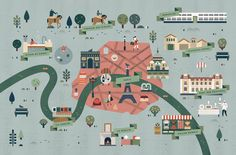 Best I Like Maps Images On Pinterest Illustrated Maps Maps - Paris things to do map