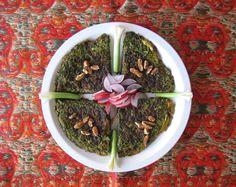Kuku sabzi (Persian green herb kookoo)  Story & recipe b Fig & Quince (Persian cooking & culture) http://figandquince.com/2014/01/09/kookoo-sabzi-recipe-persian-food-blog-iranian-food/ #Iranian #food