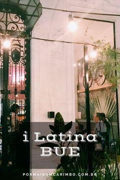 Vem ver o jantar incrível no restaurante i Latina de Buenos Aires.