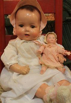 "Cute 20"" German Compostion Cloth Old Vintage Antique Baby Doll   eBay"