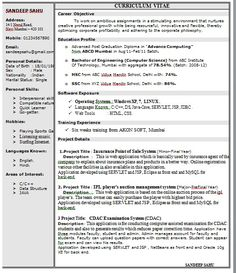 It Sample Resume Format Resume Format For Ats  Resume Format Resume Format Examples And .