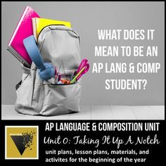 AP Language & Composition Introductory Unit: Taking It Up A Notch Ap English, English Language, Ap Language And Composition, High School Classroom, English Classroom, Powerpoint Lesson, High School English, Classroom Community, Educational Technology