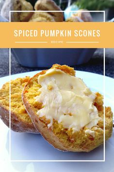 An Australian classic. Made from fresh pumpkin puree and spiced with cardamon and cinnamon. Perfect with a bit of butter or jam and cream. Pumpkin Scones, Spiced Pumpkin, Pumpkin Puree, Pumpkin Spice, Typical Australian Food, Aussie Food, Irish Recipes, Delicious Food, Bread Recipes