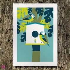 Etsy の blue tit limited edition print by beethings