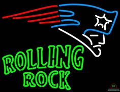 Rolling Rock New England Patriots Neon Sign NFL Teams Neon Light