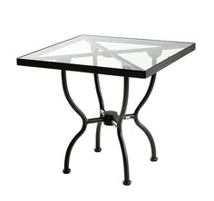 SIFAS in-outdoor living furniture : Collection KROSS (guéridon carré avec plateau verre / square table incl. glass top)