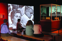A traveling exhibit tells the story of the capture and subsequent trial of Nazi officer Adolf Eichmann.