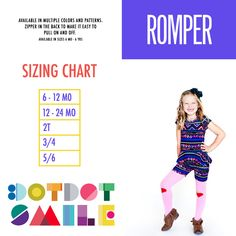 1f57e3e1569c Dot Dot Smile Romper - Available in sizes 6 months - 6 years Smile Images