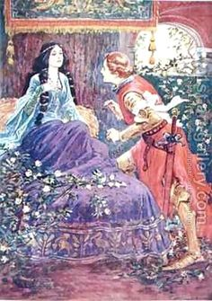 The Prince Awakens the Sleeping Beauty by (after) Browne, Gordon Frederick
