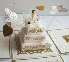 gorgeous exploding box card