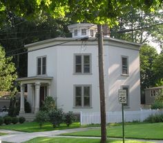 The Leete-Griswold House, on Fair Street (formerly Petticoat Lane) in Guilford, CT was built by Edwin A. Leete in 1856.