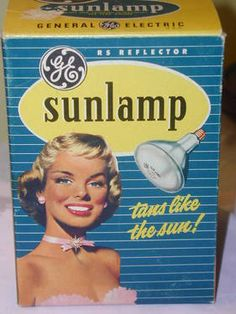 Sun Lamp.....Omgosh.....second-degree burns falling asleep under one of these!!! me too...cant beleive would spend the day at the beach and still use this...