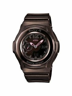 Casio Women's BGA141-5BCR Baby-G Shock Resistant Analog Digital Watch Casio. $99.00. World time (29 time zones/48 cities + utc). Day/mode indicator; 5 daily alarms. Shock resistant, led light. 1/100 sec stopwatch; countdown timer; 12/24 hr formats. Water-resistant to 100 m (330 feet)