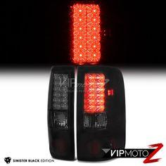 2004-2008 Ford F150 [SINISTER BLACK] Smoke LED Rear Brake Tail Lights Lamp LH+RH #VIPMOTOZ