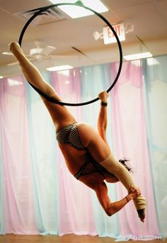 Lyra, Aerial Hoop, Circus Acrobatics. Would like to be able to do this one day