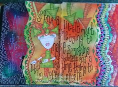 Red Kitty B Creates: Journal pages from THE DYAN REAVELEY SOCIETY OF ART JOURNALING Gateway Group.