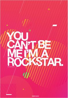 """You can't be me. I'm a rockstar * My boss said I'm a """"Rockstar"""".. that made my day ~!"""