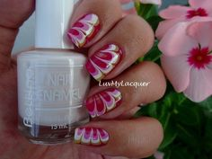 LuvMyLacquer: Strawberry Shortcake Inspired Mani (80s Baby Week)