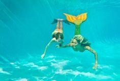 Mermaid swims at Kelly Tarltons