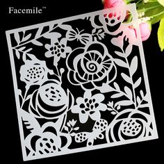 Flowers Dragonfly Spilling Ink Layering Stencils For DIY Scrapbooking/photo album Decorative Embossing Paper Cards Crafts Stamps